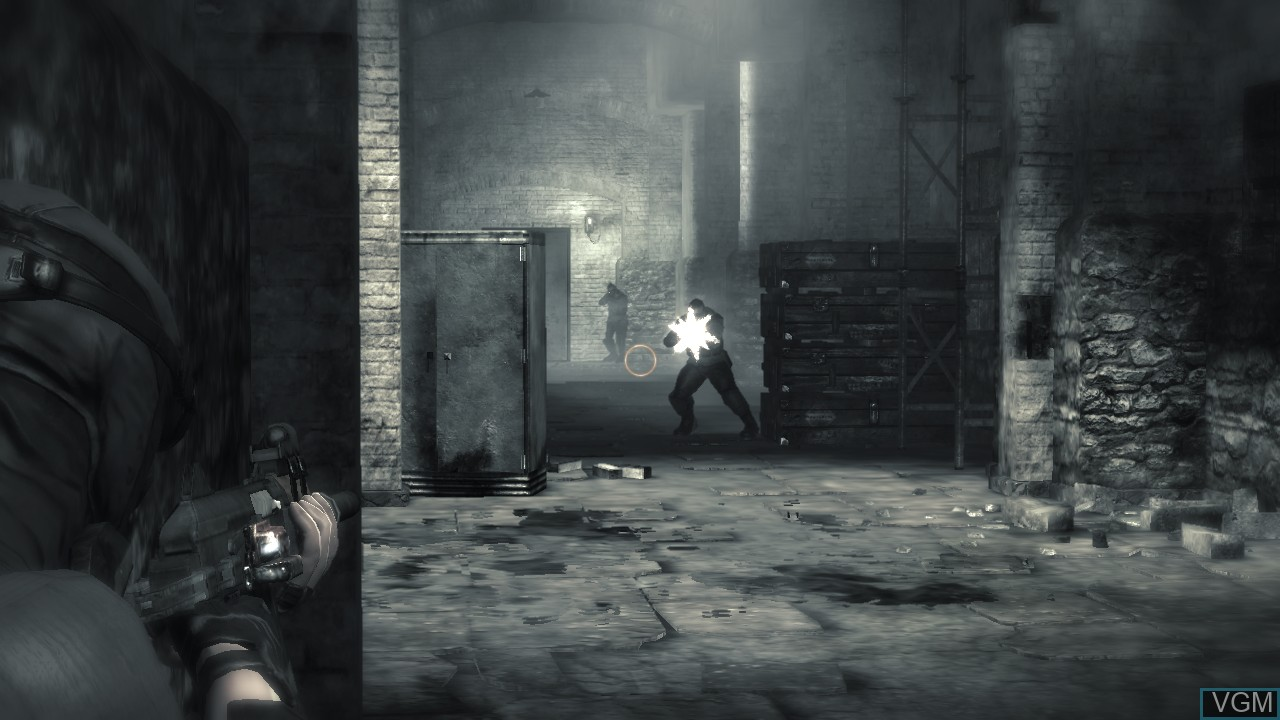 In-game screen of the game Dark Sector on Microsoft Xbox 360