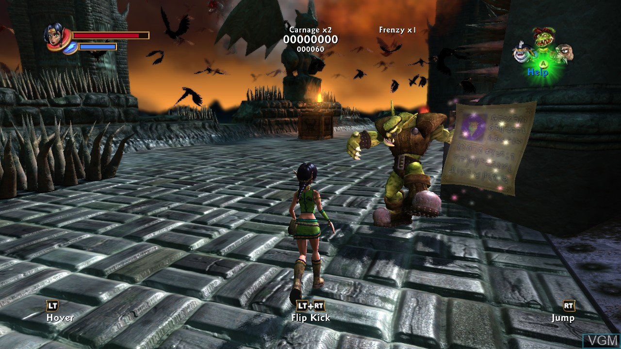 In-game screen of the game Kameo - Elements of Power on Microsoft Xbox 360