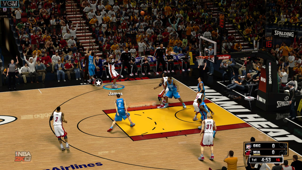In-game screen of the game NBA 2K13 on Microsoft Xbox 360