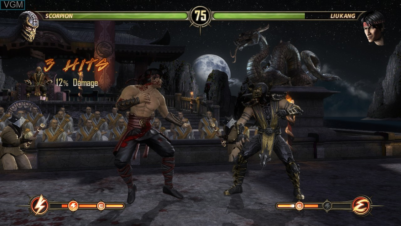 In-game screen of the game Mortal Kombat Komplete Edition on Microsoft Xbox 360