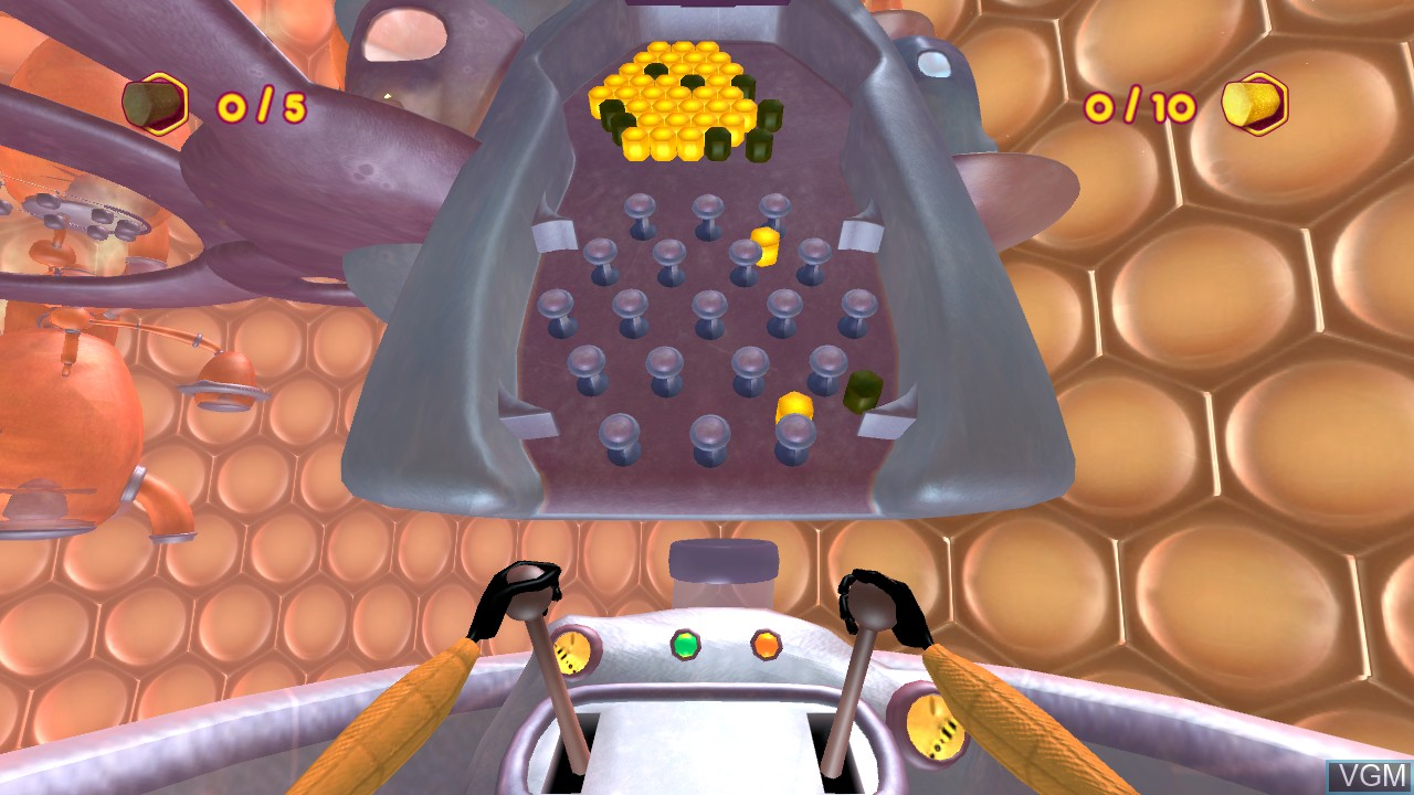 In-game screen of the game Bee Movie Game on Microsoft Xbox 360