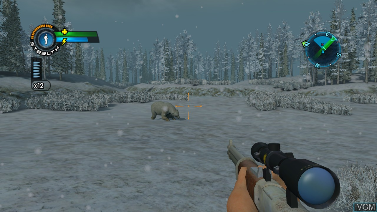 In-game screen of the game Cabela's Alaskan Adventures on Microsoft Xbox 360