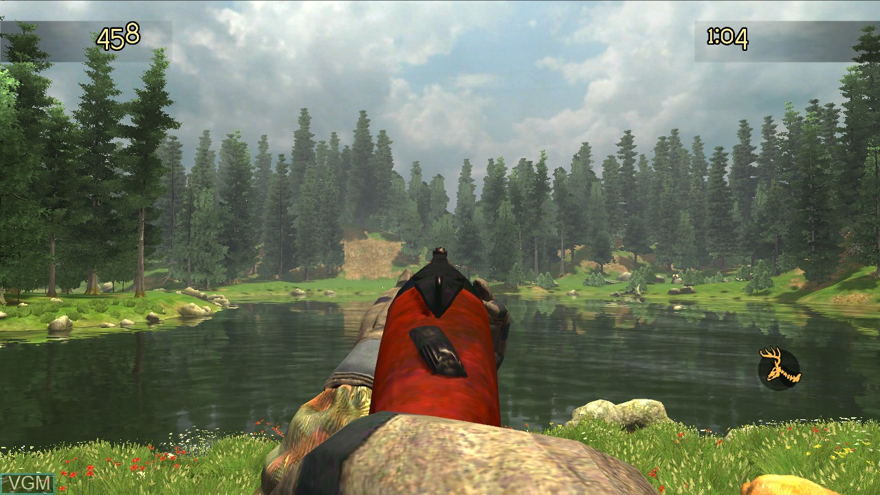 In-game screen of the game Cabela's Trophy Bucks on Microsoft Xbox 360