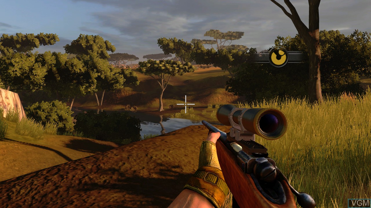 In-game screen of the game Cabela's Dangerous Hunts 2009 on Microsoft Xbox 360