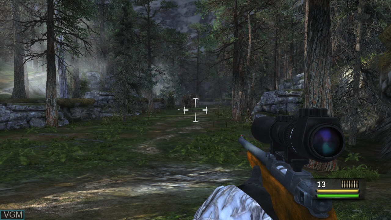 In-game screen of the game Cabela's Dangerous Hunts 2013 on Microsoft Xbox 360