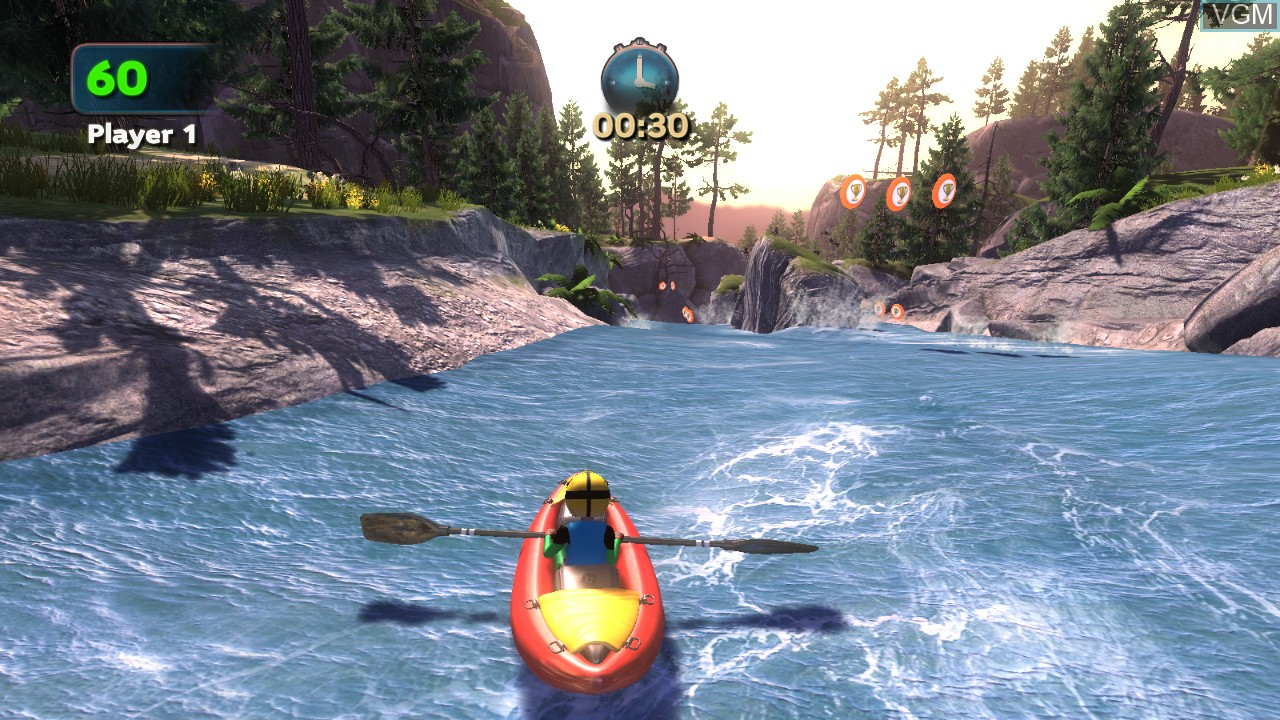 In-game screen of the game Cabela's Adventure Camp on Microsoft Xbox 360