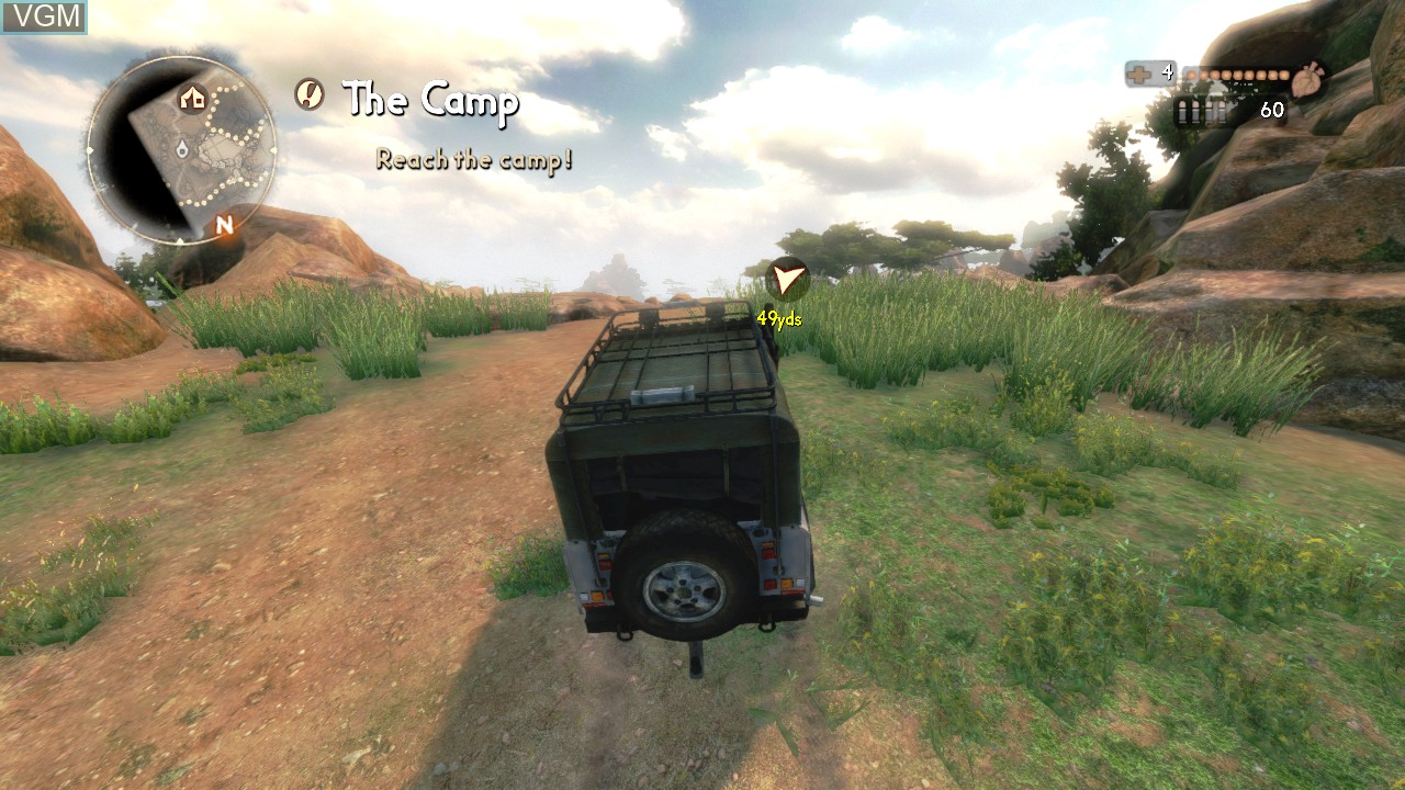 In-game screen of the game Cabela's African Adventures on Microsoft Xbox 360