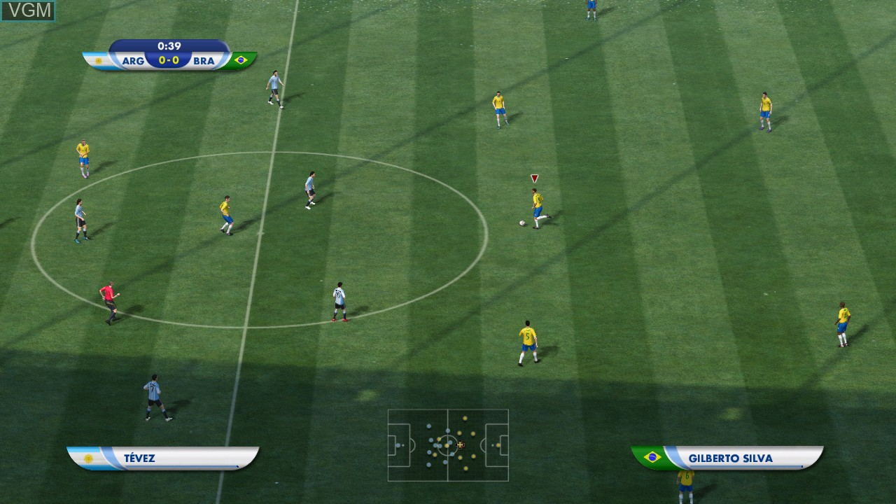 In-game screen of the game 2010 FIFA World Cup South Africa on Microsoft Xbox 360