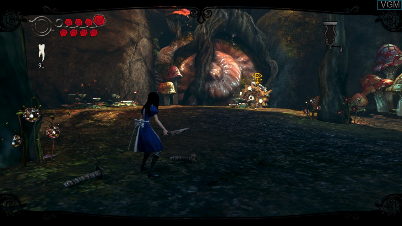 In-game screen of the game Alice - Madness Returns on Microsoft Xbox 360