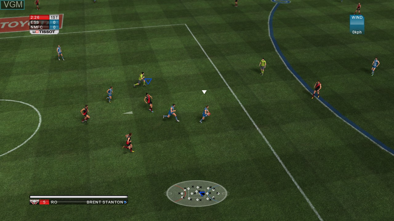 In-game screen of the game AFL Live 2 on Microsoft Xbox 360
