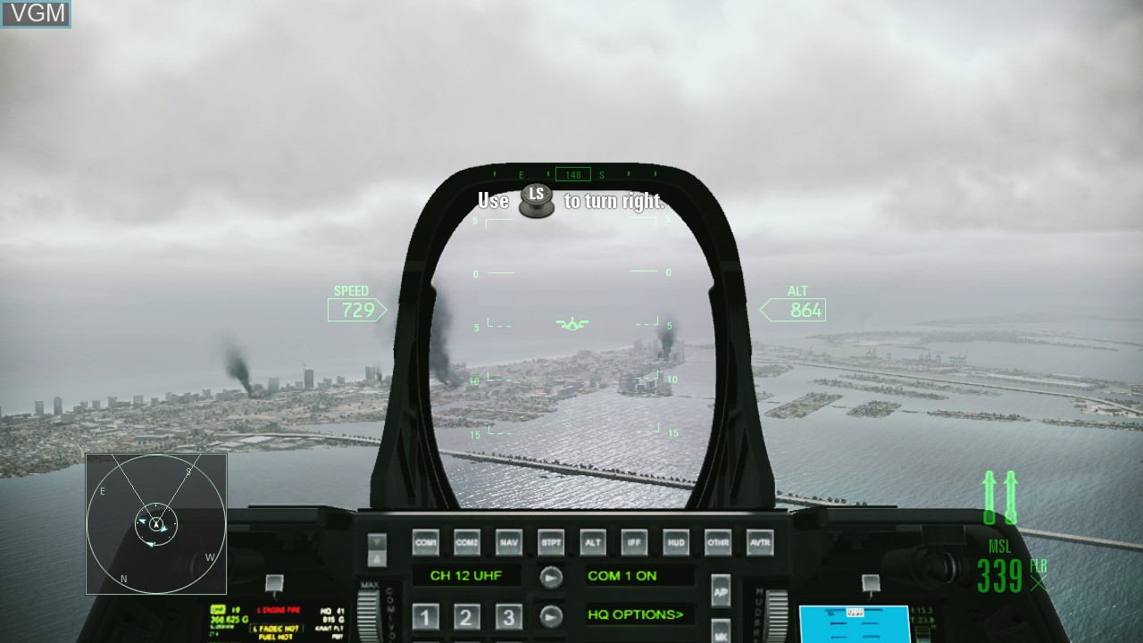 In-game screen of the game Ace Combat - Assault Horizon on Microsoft Xbox 360