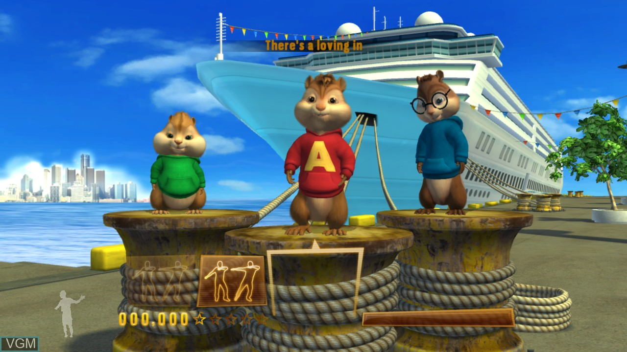 In-game screen of the game Alvin and the Chipmunks - Chipwrecked on Microsoft Xbox 360