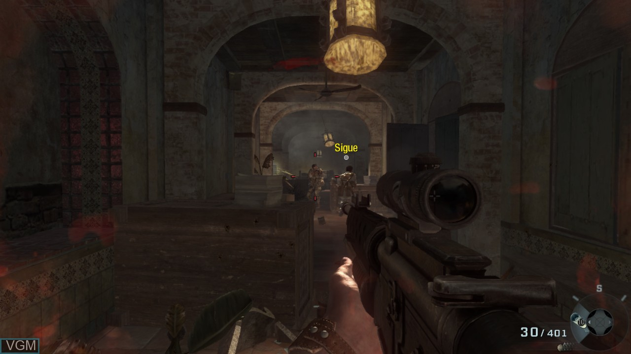 In-game screen of the game Call of Duty - Black Ops on Microsoft Xbox 360