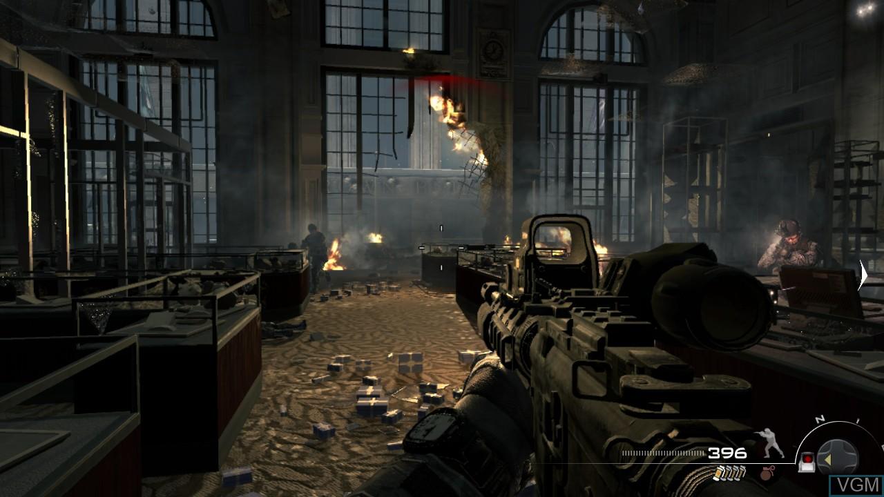 In-game screen of the game Call of Duty - Modern Warfare 3 on Microsoft Xbox 360
