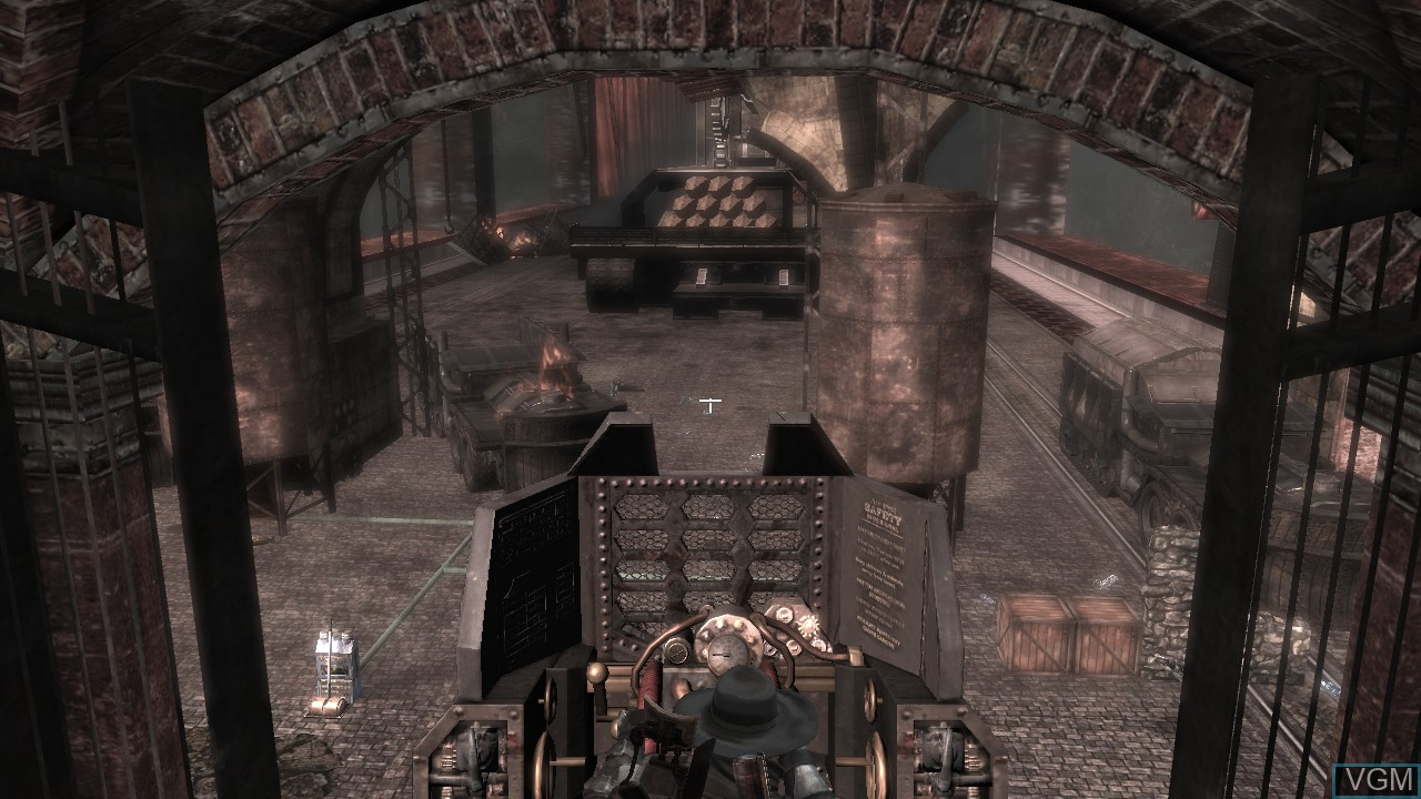 In-game screen of the game Damnation on Microsoft Xbox 360