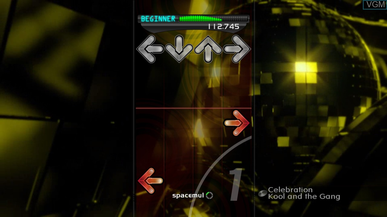 In-game screen of the game DanceDanceRevolution on Microsoft Xbox 360