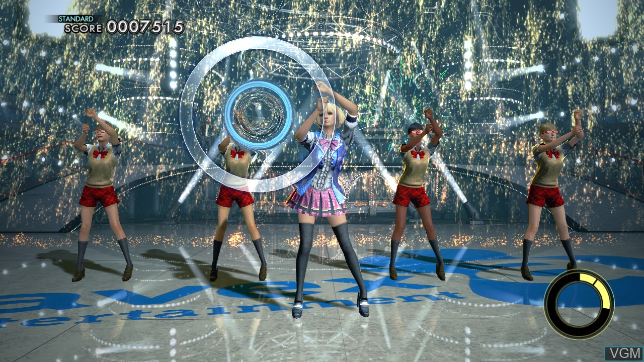 In-game screen of the game DanceEvolution on Microsoft Xbox 360