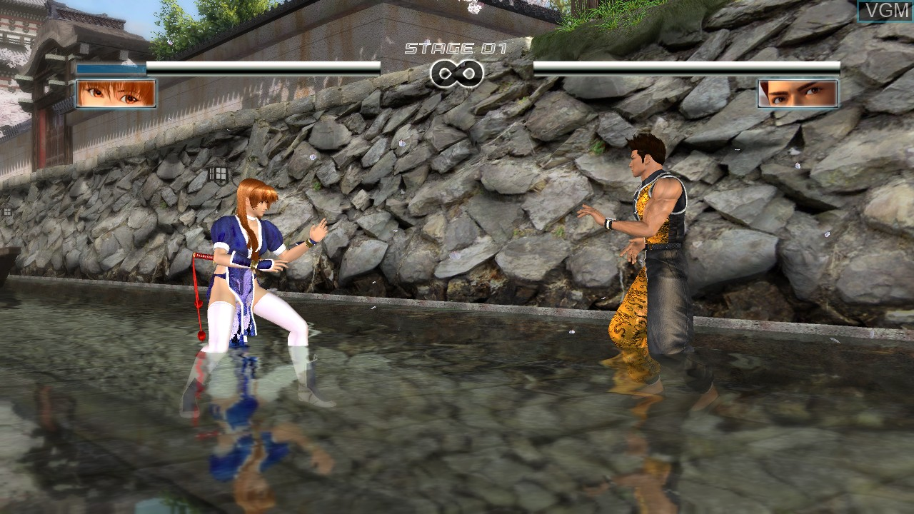 In-game screen of the game Dead or Alive 4 on Microsoft Xbox 360