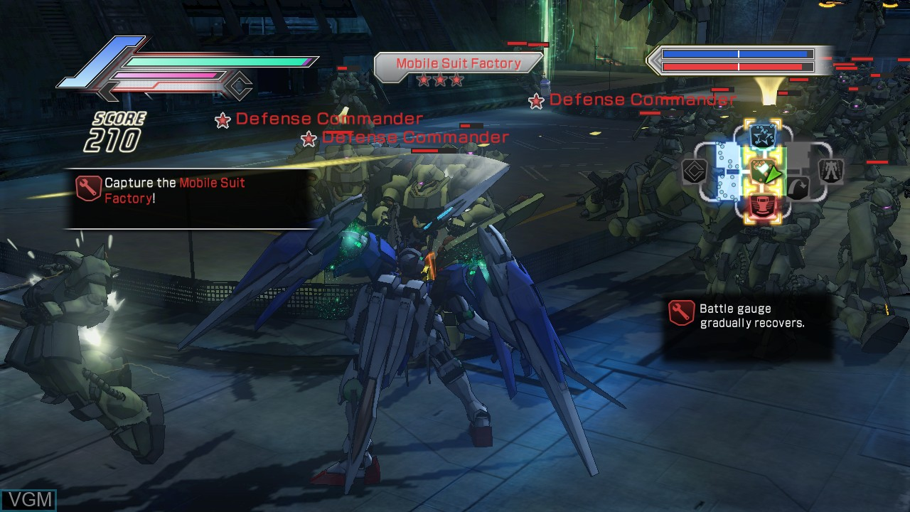 In-game screen of the game Dynasty Warriors - Gundam 3 on Microsoft Xbox 360