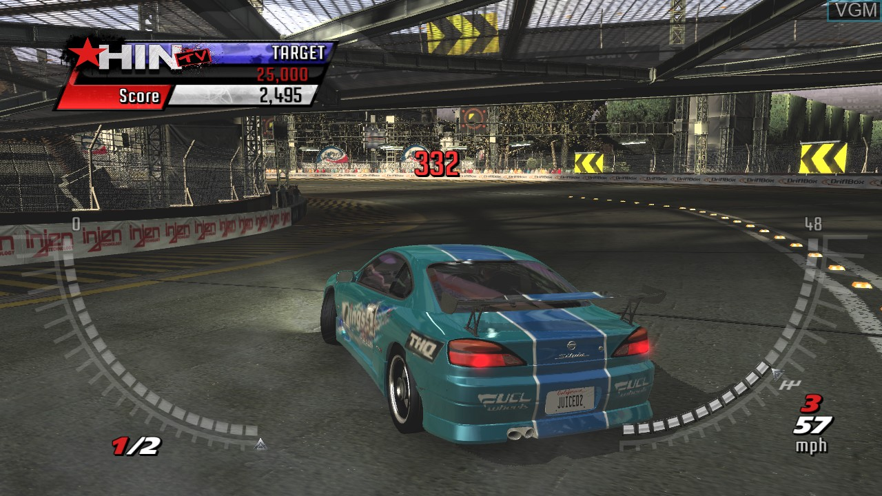 In-game screen of the game Juiced 2 - Hot Import Nights on Microsoft Xbox 360