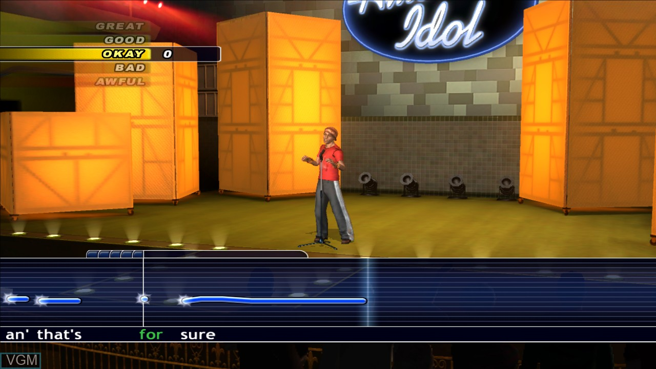 In-game screen of the game Karaoke Revolution Presents - American Idol Encore 2 on Microsoft Xbox 360