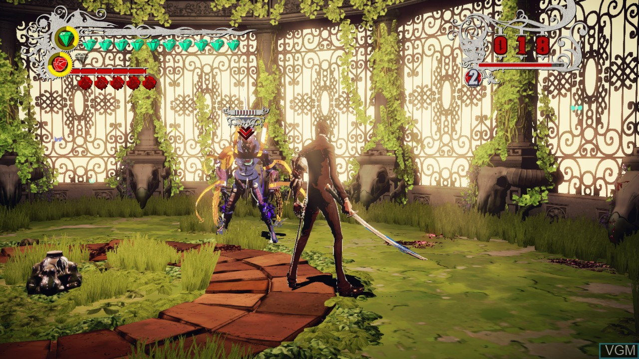 In-game screen of the game Killer Is Dead on Microsoft Xbox 360