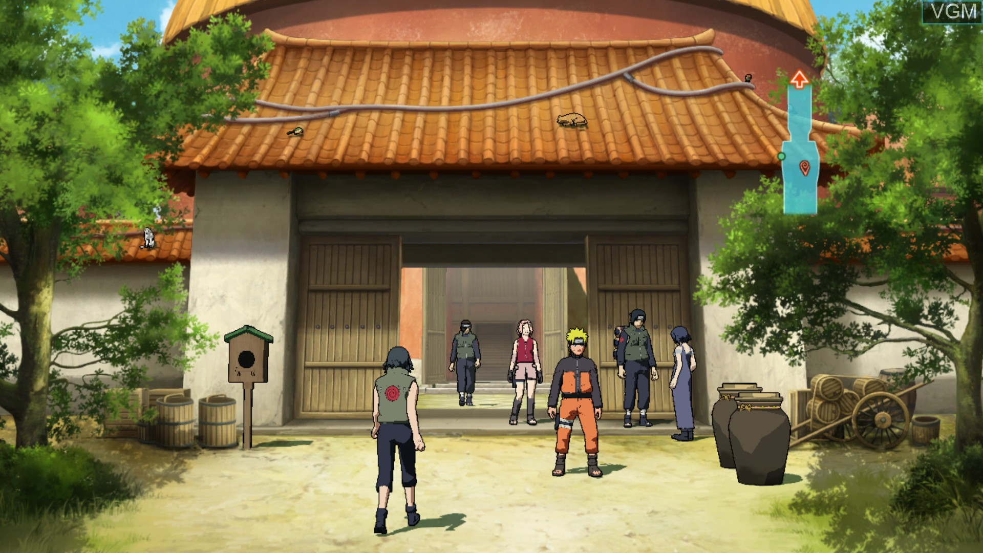 In-game screen of the game Naruto Shippuden - Narutimate Storm 2 on Microsoft Xbox 360