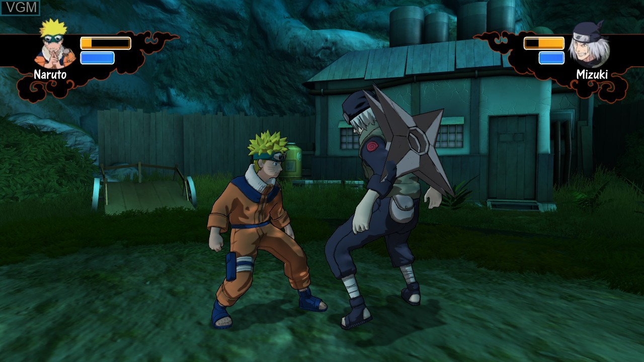 In-game screen of the game Naruto - Rise of a Ninja on Microsoft Xbox 360