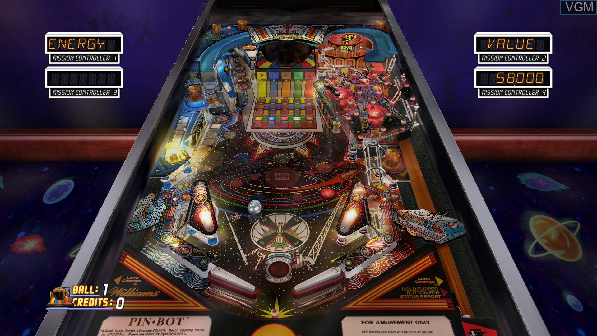 In-game screen of the game Pinball Hall of Fame - The Williams Collection on Microsoft Xbox 360