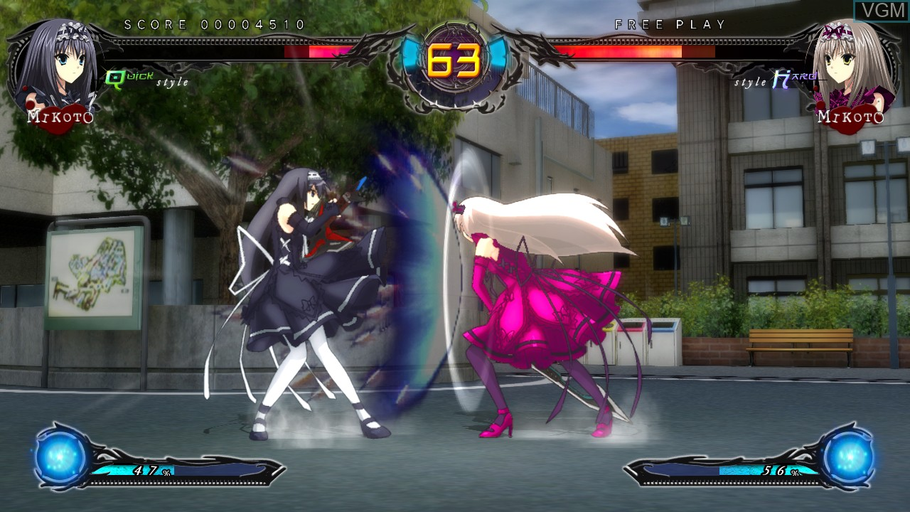 In-game screen of the game Phantom Breaker - Extra on Microsoft Xbox 360