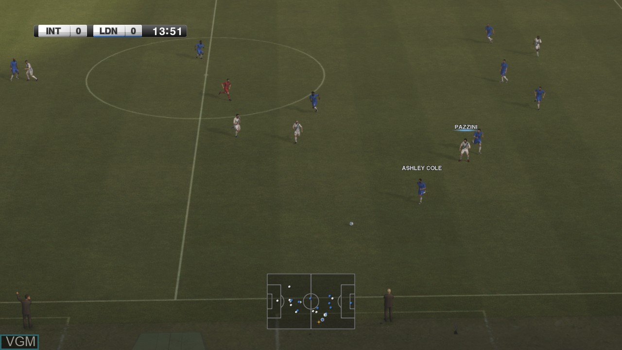 In-game screen of the game Pro Evolution Soccer 2012 on Microsoft Xbox 360