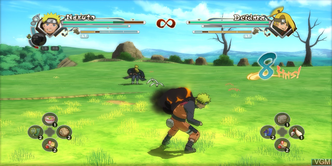 In-game screen of the game Naruto Shippuden - Ultimate Ninja Storm Generations on Microsoft Xbox 360