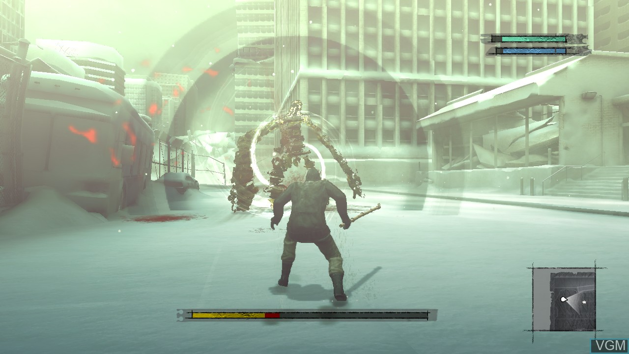 In-game screen of the game NIER on Microsoft Xbox 360
