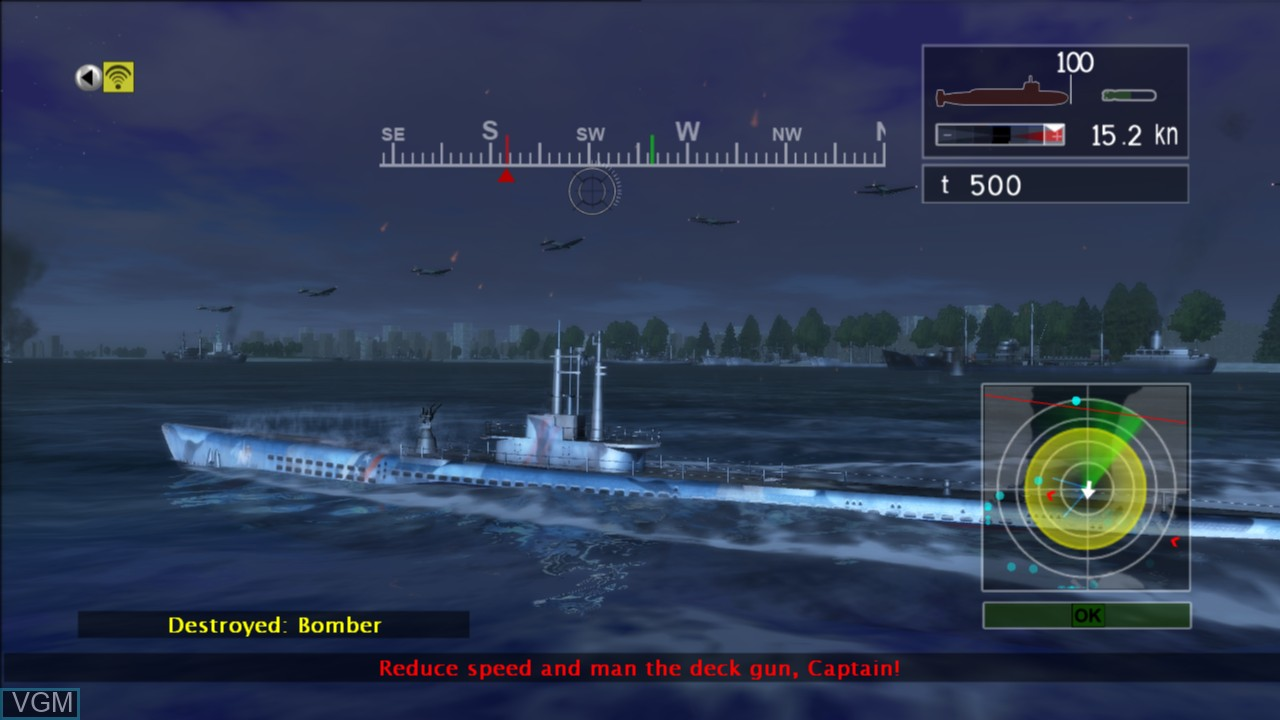 In-game screen of the game Naval Assault - The Killing Tide on Microsoft Xbox 360