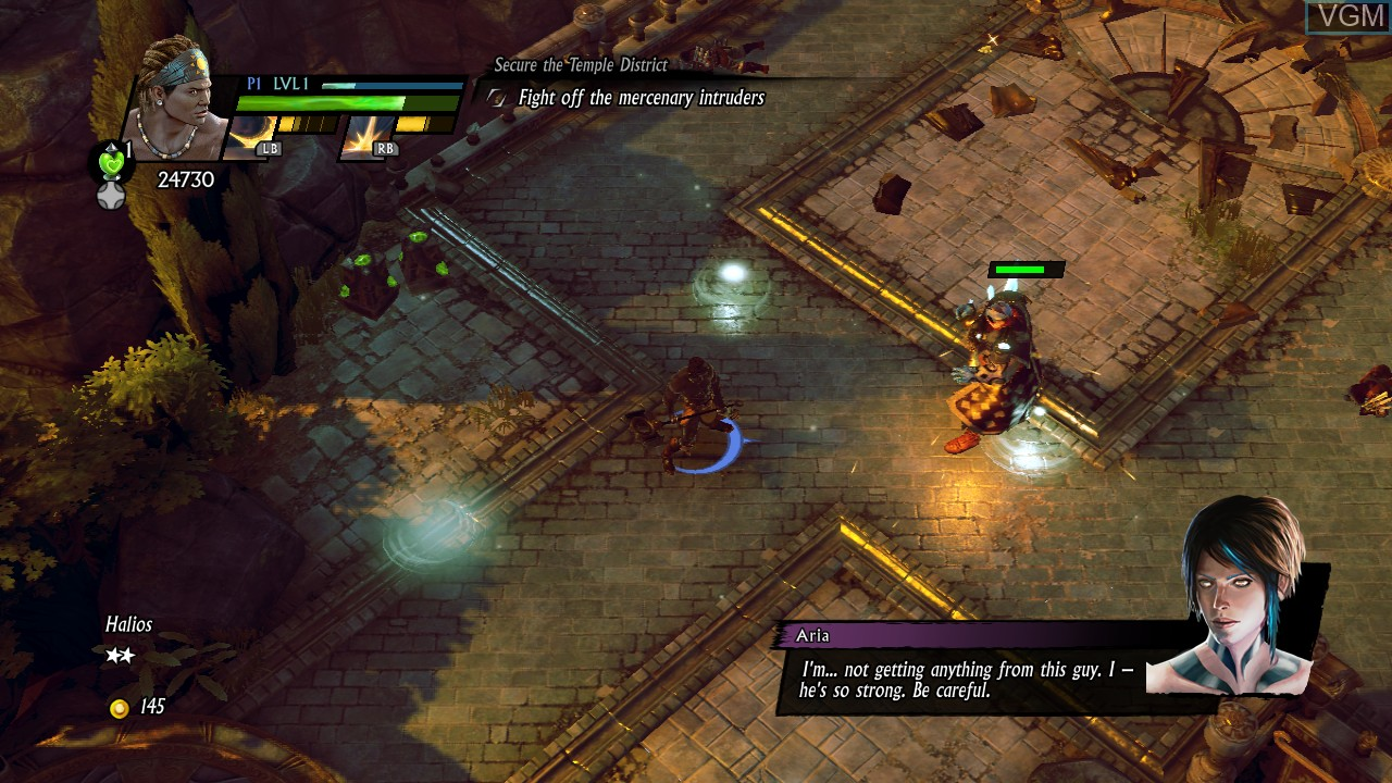 In-game screen of the game Sacred 3 on Microsoft Xbox 360