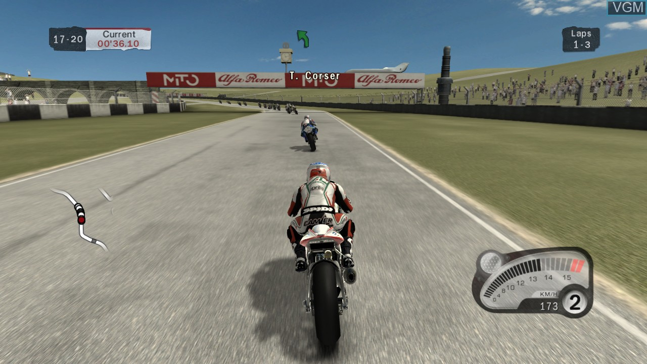 In-game screen of the game SBK 2011 on Microsoft Xbox 360