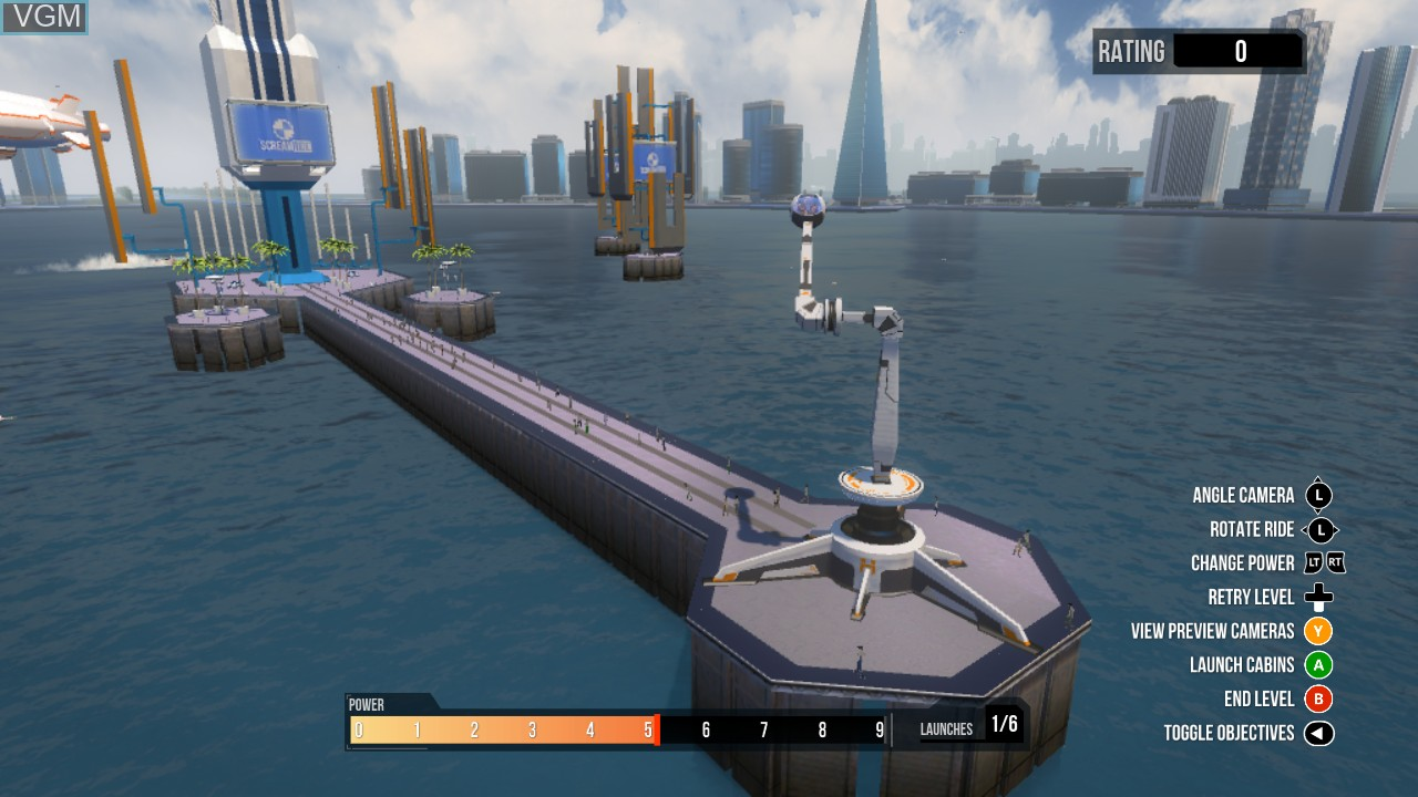 In-game screen of the game ScreamRide on Microsoft Xbox 360