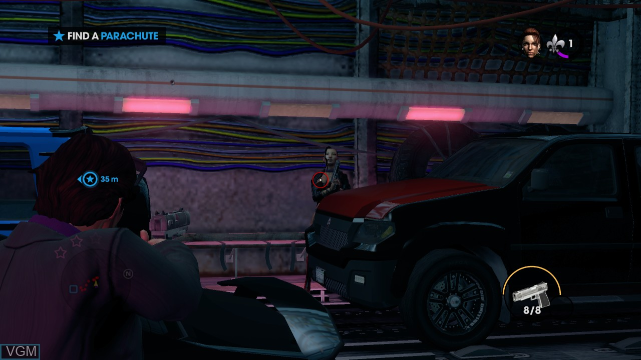In-game screen of the game Saints Row - The Third on Microsoft Xbox 360