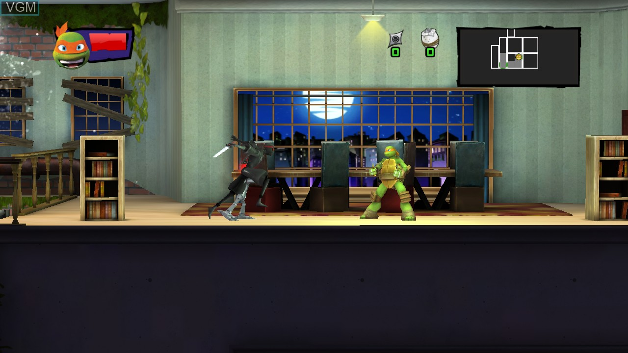 In-game screen of the game Teenage Mutant Ninja Turtles - Danger of the Ooze on Microsoft Xbox 360
