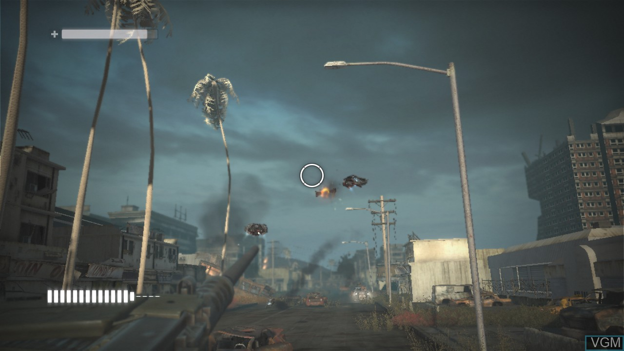 In-game screen of the game Terminator Salvation on Microsoft Xbox 360