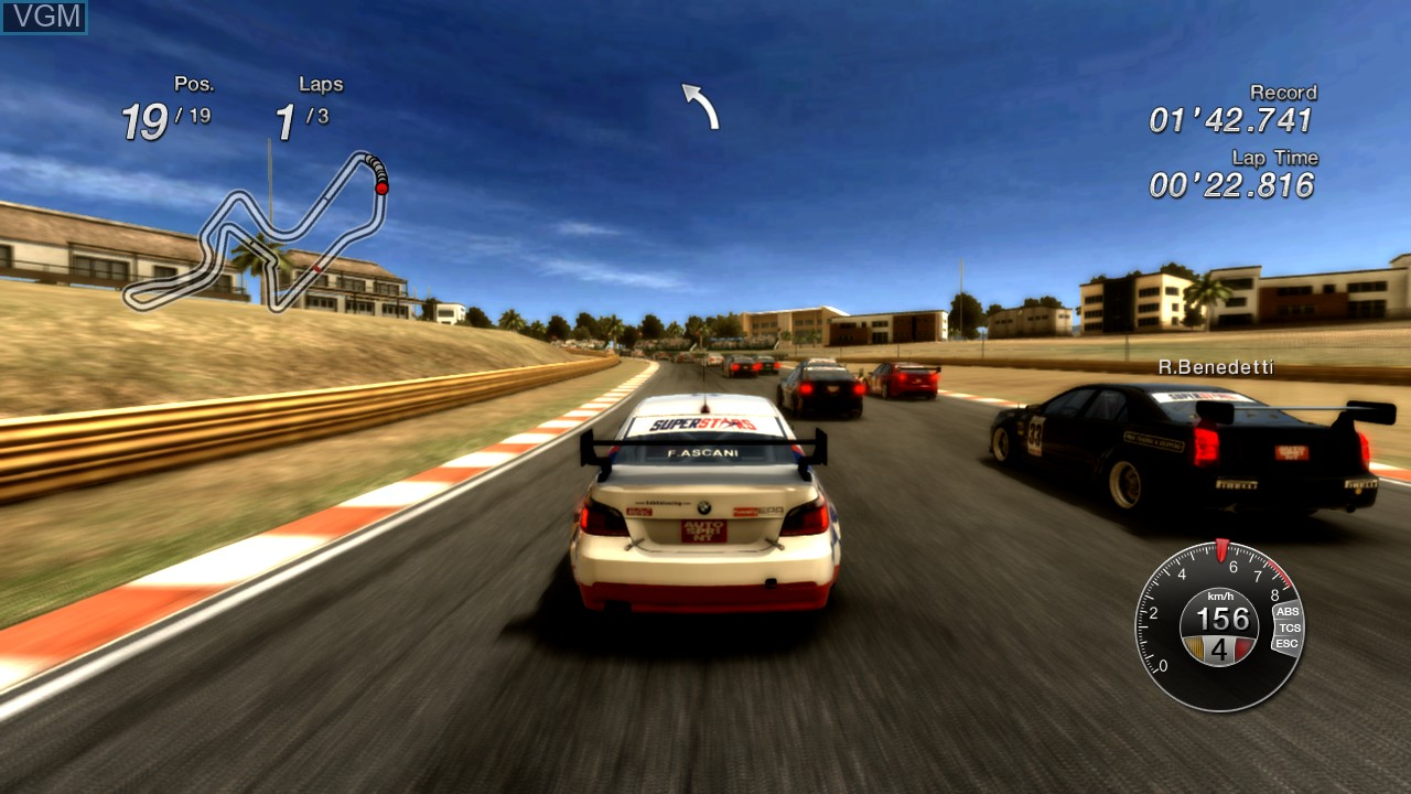 In-game screen of the game Superstars V8 Racing on Microsoft Xbox 360