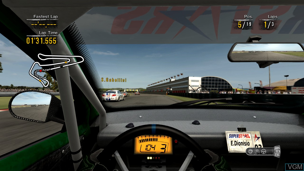 In-game screen of the game Superstars V8 Next Challenge on Microsoft Xbox 360