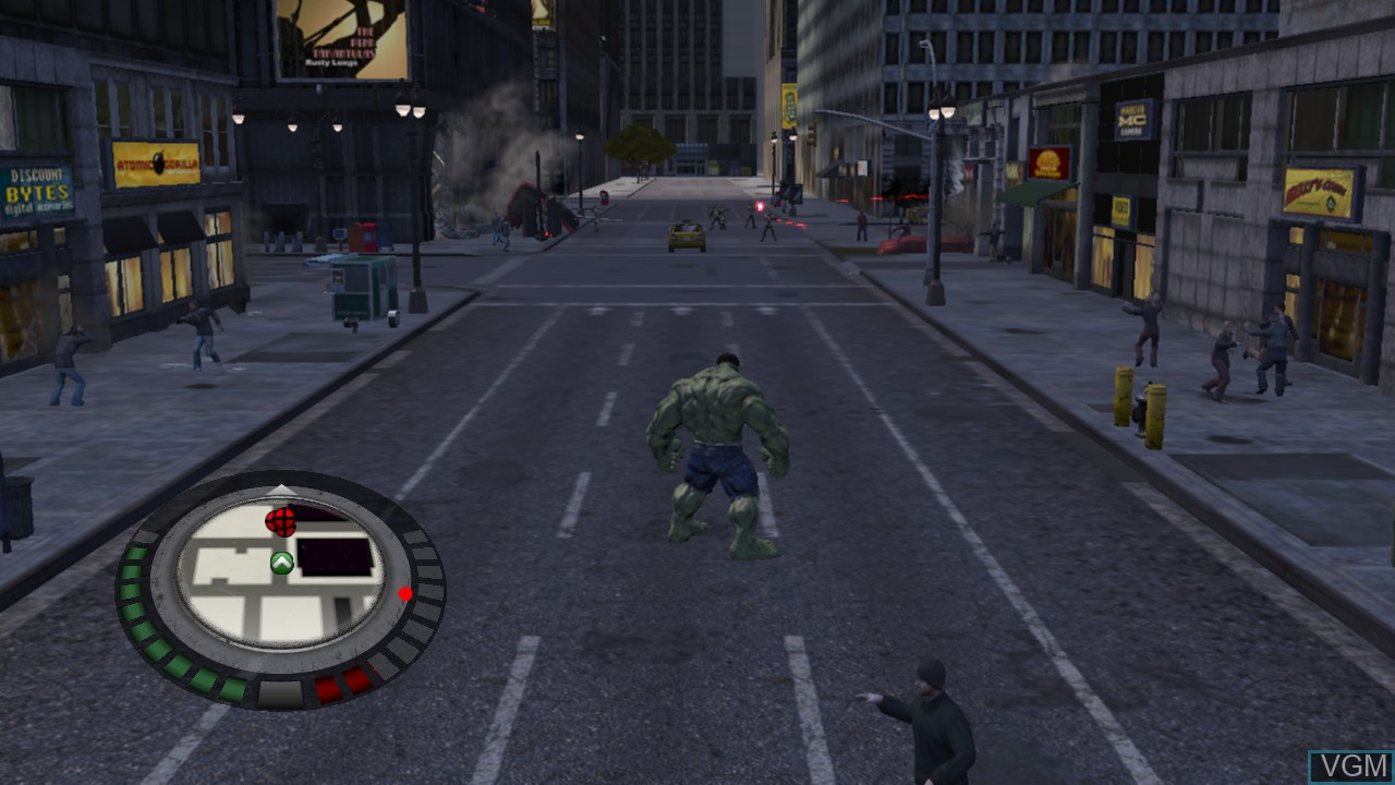 In-game screen of the game Incredible Hulk, The on Microsoft Xbox 360