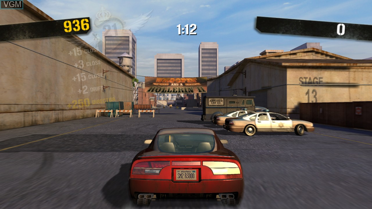 In-game screen of the game Stuntman Ignition on Microsoft Xbox 360