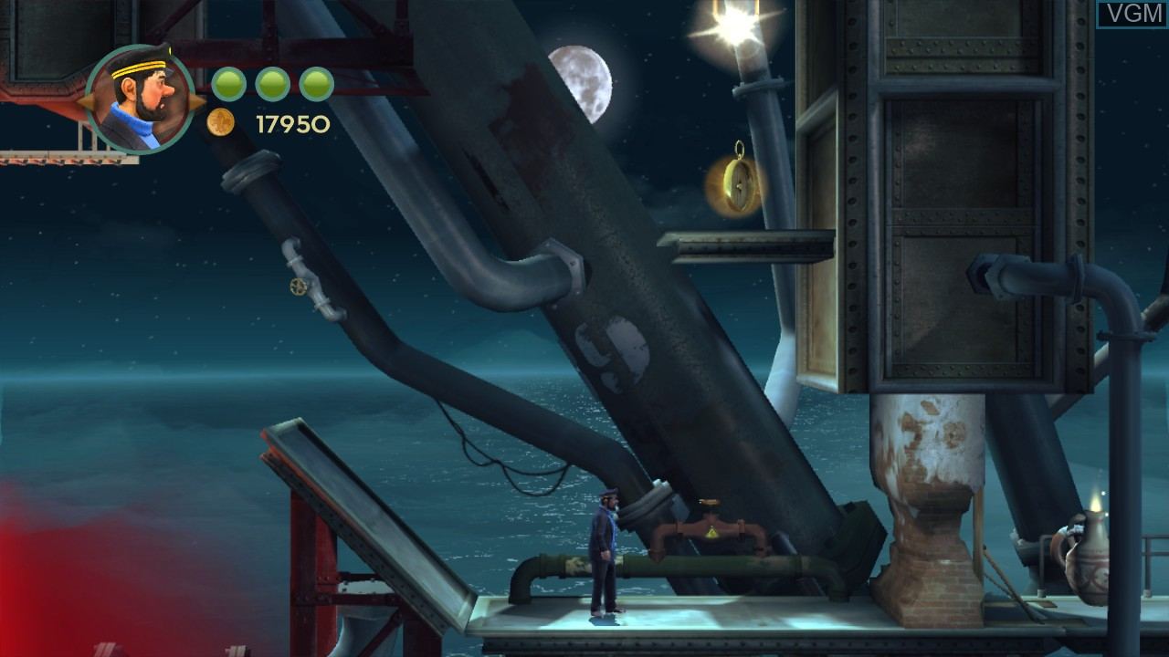 In-game screen of the game Adventures of Tintin, The - The Secret of the Unicorn on Microsoft Xbox 360