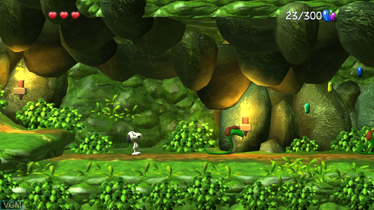 In-game screen of the game Peanuts Movie, The - Snoopy's Grand Adventure on Microsoft Xbox 360