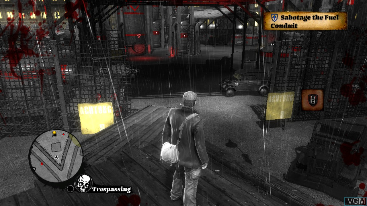In-game screen of the game Saboteur, The on Microsoft Xbox 360