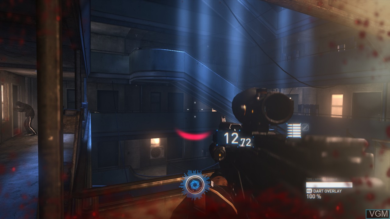 In-game screen of the game Syndicate on Microsoft Xbox 360