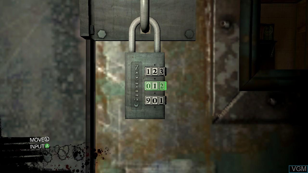 In-game screen of the game Saw II - Flesh & Blood on Microsoft Xbox 360