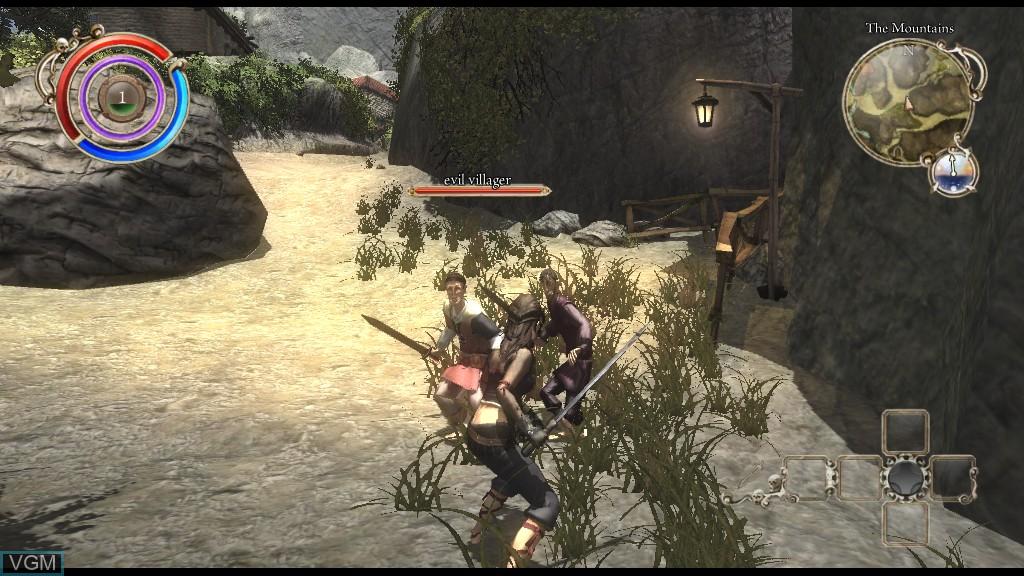 In-game screen of the game Venetica on Microsoft Xbox 360